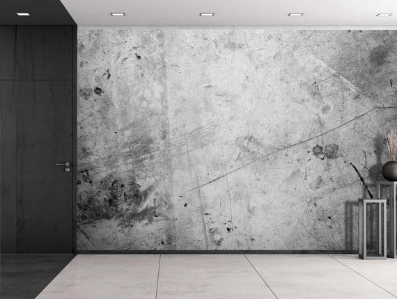 Gris et noir éclaboussé mur peint - murale, Home Decor - 100 x 144 pouces