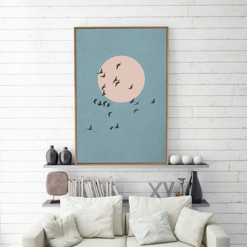 wall26 Framed Canvas Wall Art Nordic Abstract Canvas Prints Home Artwork Decoration for Living Room,Bedroom