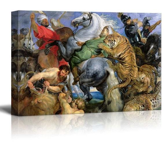 ad712986685ec The Tiger Hunt c.1616 by Rubens Canvas Print Wall Art