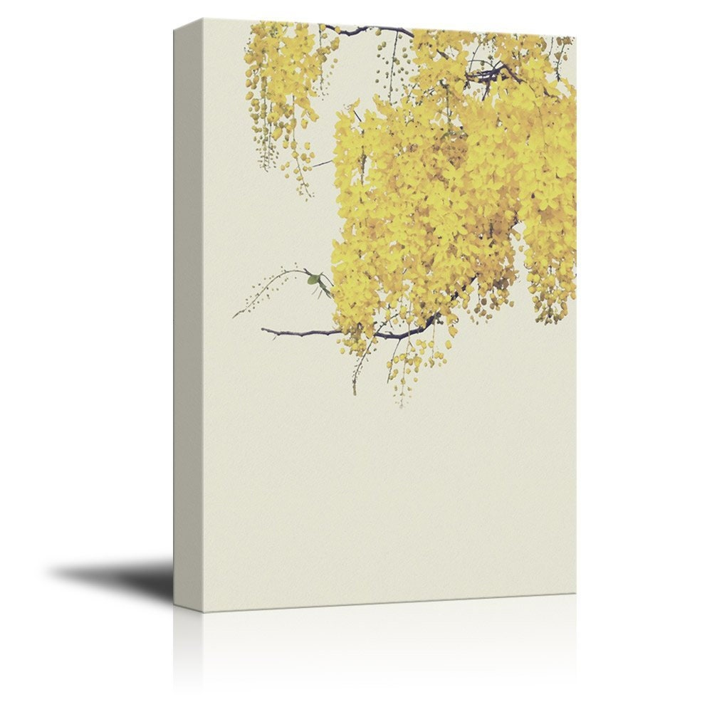 fb4bc60c0e9 wall26 Canvas Wall Art Small Yellow Leaves on Branch