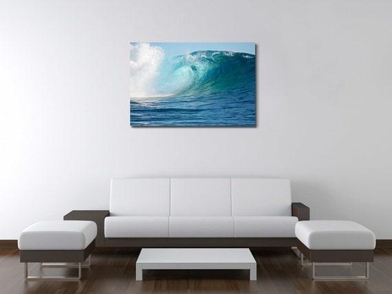 Ocean 3.2 Tahiti Big Huge Wave Surf Wall Art Canvas Picture Print