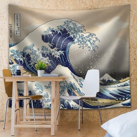 La Grande Vague De Kanagawa Tissu Tapisserie Home Decor Etsy
