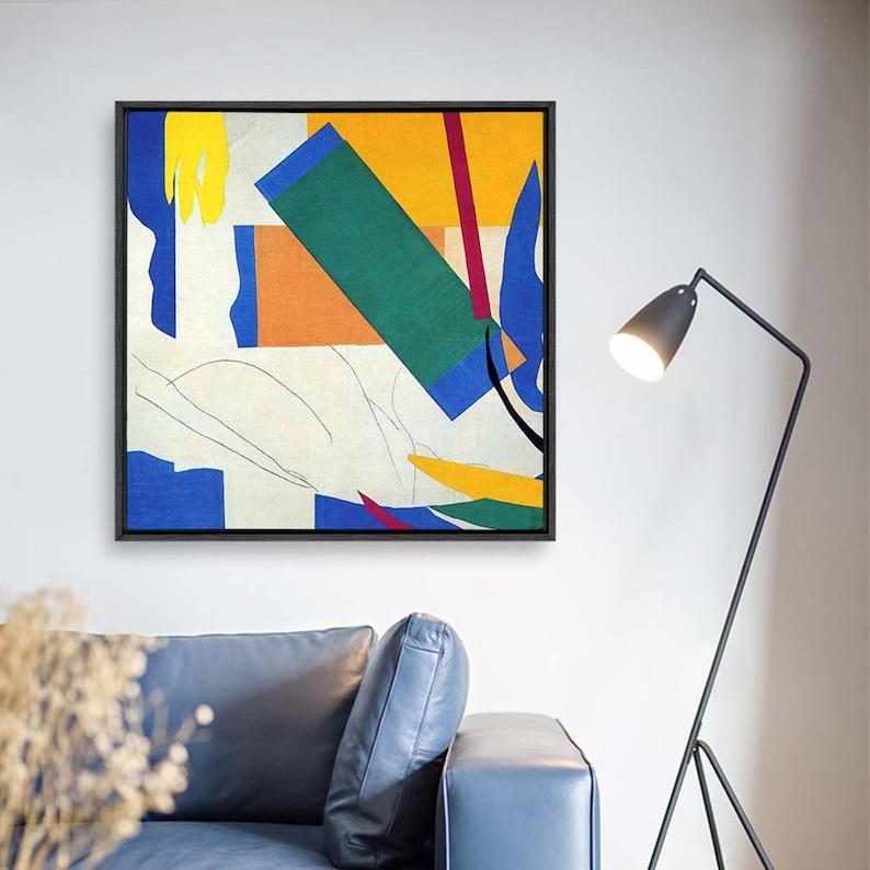 Wall26 Framed Canvas Wall Art Matisse Guitar Girl Canvas Prints Home Artwork Decoration for Living Room,Bedroom