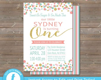 One Year Old Invite