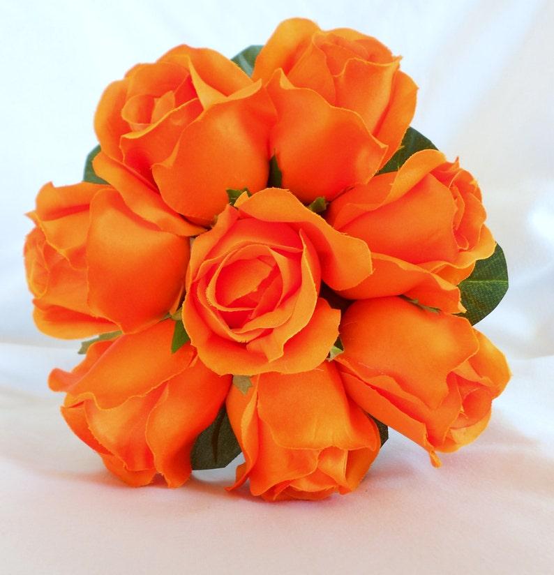 lavender and white bridal bouquet set 6 pc Bridal wedding set orange