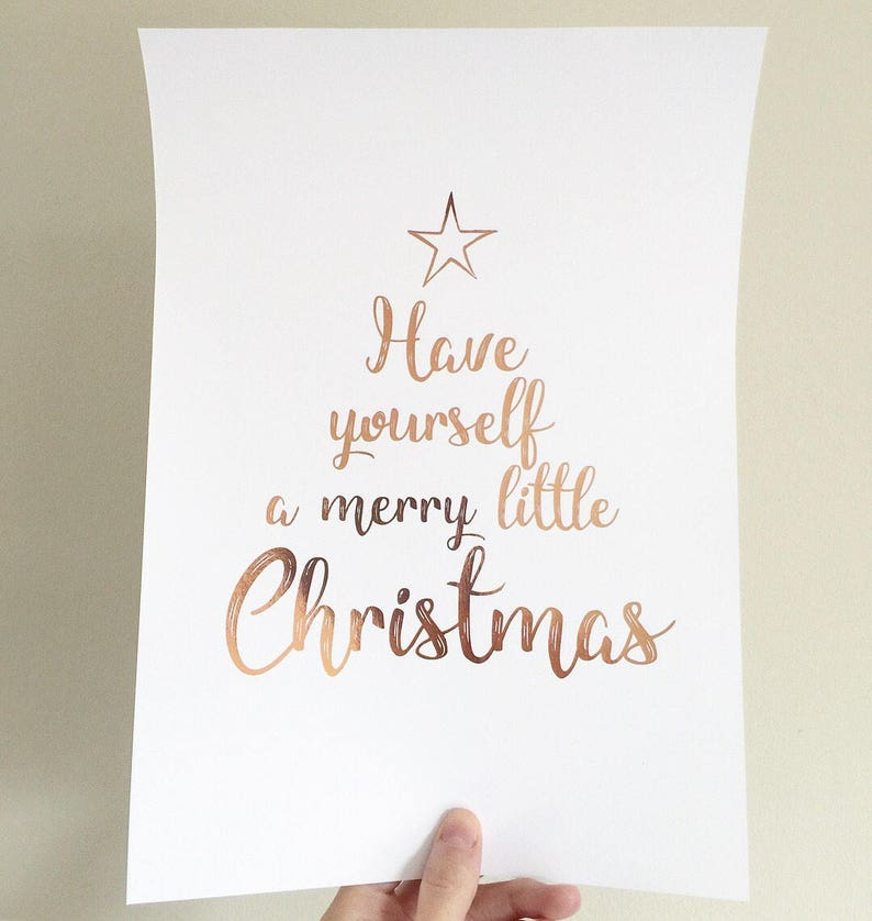 have yourself a merry little christmas Foil Print Christmas foil print Christmas Decor Christmas Foil print Merry Christmas Print