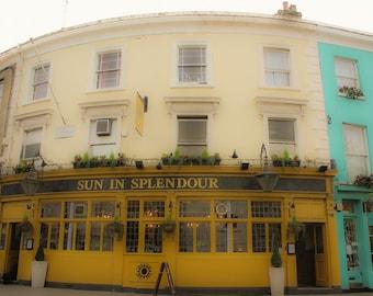 Sun In Splendour, Portobello Road, Notting Hill Architecture, Notting Hill, London Art, London Photography, Travel, Fine Art Print