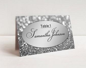 elegant wedding place cards template rose gold escort cards etsy