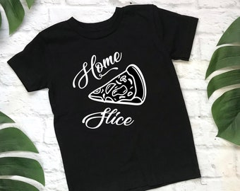 Funny Home Slice Pizza Toddler T-shirt Shirt Tee