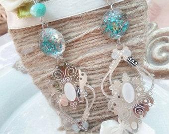 Stainless Steel Pendant earrings