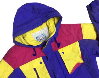 80s Colorblock Windbreake Ski Jacket