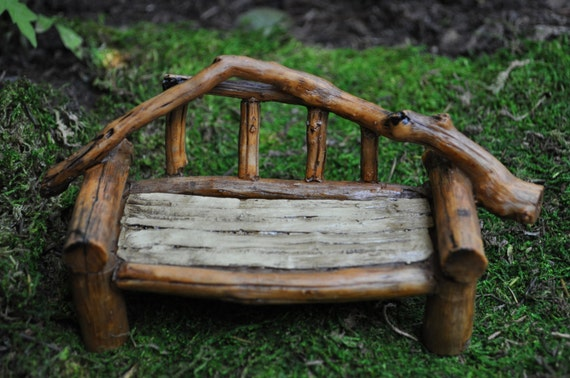 Wondrous Fairy Garden Furniture Wood Bench Miniatures Supplies Accessories Indoor Outdoor Figurine Doll House Bralicious Painted Fabric Chair Ideas Braliciousco