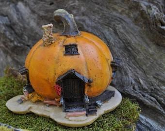 Orange Pumpkin Fairy House