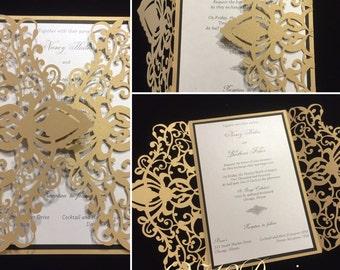 Lasercut Wedding Invitations