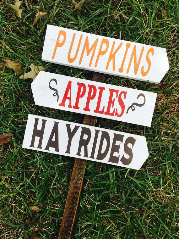 Pumpkins Apples Hayrides Fall Outdoor Decor Autumn Outdoor Sign Decor Wood Rustic Decor Halloween Thanksgiving Garden Haystack Farmhouse