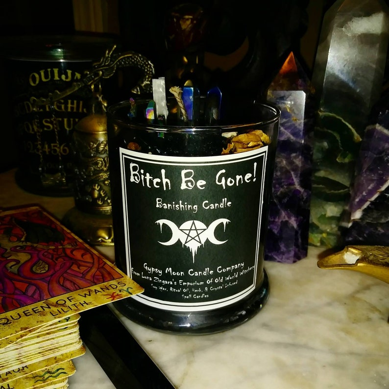 Bitch Be Gone, Banishing Candle, Binding Candle, Banishing, Binding, Evil  Eye Candle, banish Gossip, banish evil, Bind and Banish