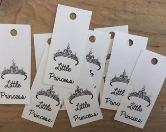Babyshower Favor Tag, Little Princess, Princess Theme, Party Favor Tag, Paper Gift Tag, Newborn Baby Girl, Pink Baby Theme, Tiara Princess