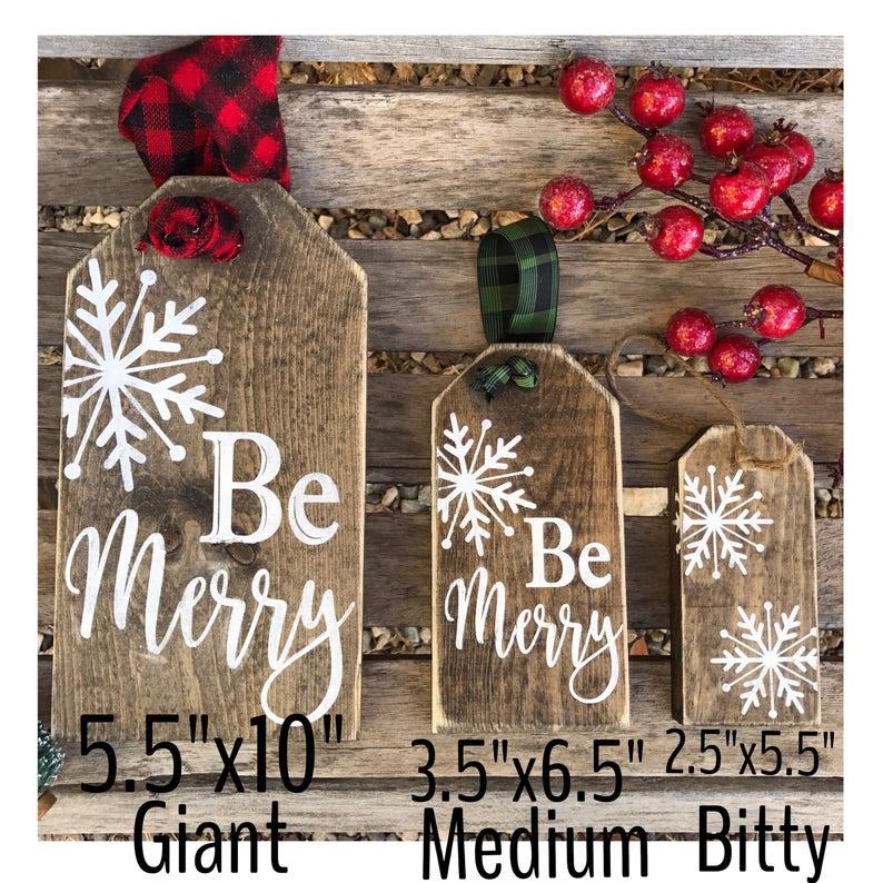 Christmas / giant tags / wood tags / farmhouse signs / christmas signs /  christmas decor / stocking tags / christmas tags / name tags