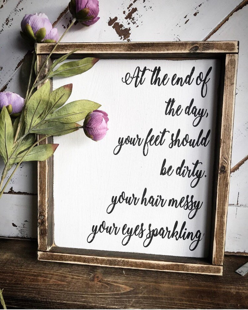 Quotes Wood Signs Bedroom Decor Country Living Country Etsy