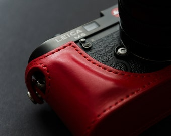 Handmade Leica M Leather Half Case for M2 M3 M4 M6 M7 MP M-A (made-to-order)