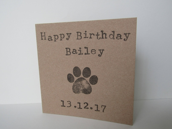 Personalised Pet Birthday Card Card For Pet Dog Birthday
