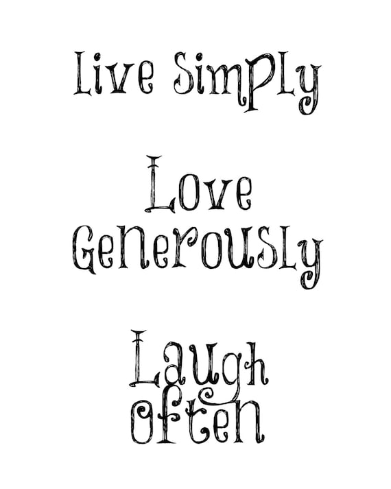 Live Love Laugh Digital Download Quote Wall Art Quotes Etsy Mesmerizing Live Love Laugh Quote