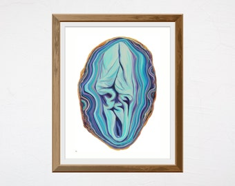 Fine Art Print • Geode Vulva • Vulva Art • Wall Art • Giclée Print