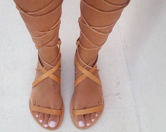 1c7a96a54 Gladiator Tie Up Sandals, Greek Leather Sandals, Roman Sandals,Tie Up  leather sandals, Handmade Sandals,Women's sandals,Real Leather sandals
