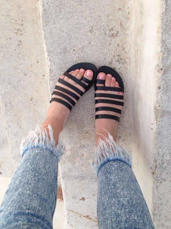 sandales de grec plage glissement ballerines sandales gladiateur grec Biege Sandales Strappy mariage sandales sur en en sandales grec cuir de Slip cuir ZpnqIafE
