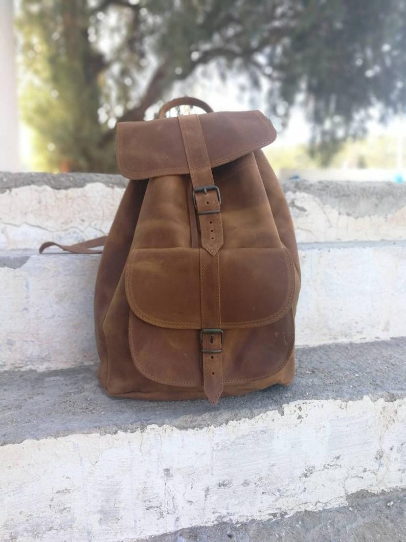 bcd5fafe46e63 Griechische Lederrucksack handgemachte Tasche unisex Damen