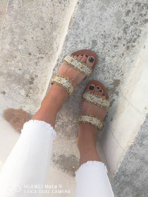 Shoes Shoes Greek Leather Sandals Handmade Sandals summer Leather Natural Decorated Sandals flats Handmade Leather Women boho flats xxvSnBfw