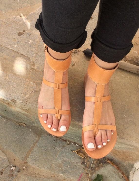d593609ff59f Handmade Greek sandals Leather Sandals Gladiator Sandals