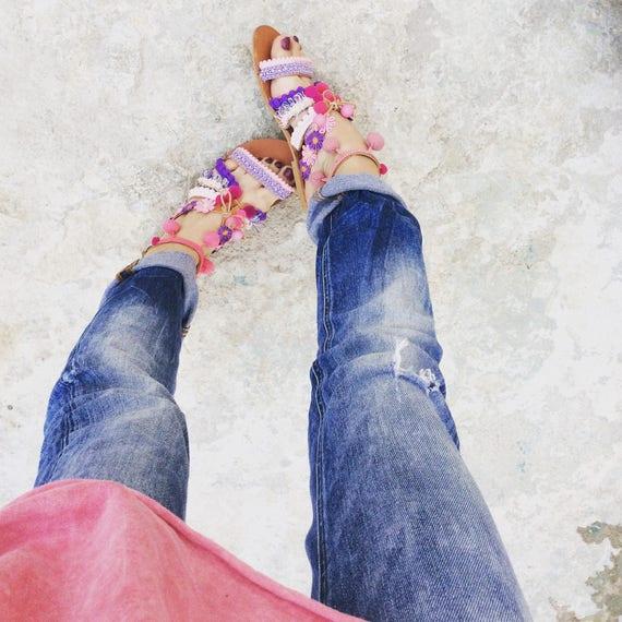 Boho grecques sandales sandales sandales sandales sandales Cuir gladiateur wEUvqUXx