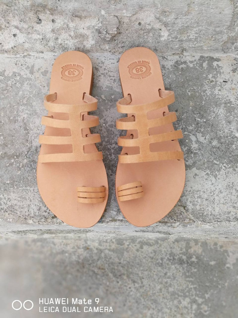 93a682928c4e4 Greek Leather Sandals, Handmade sandals, Wedding sandals, Gladiator  Sandals, Summer shoes, Slip on Sandals, strappy sandals, women flats