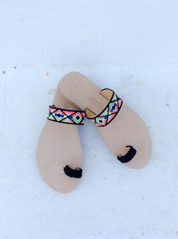 grecques sandales sandales sandales en Boho cuir sandales ca5SqWUX6