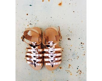 Gold Greek Sandals for Girls, Girls Gladiator Sandals, Children Greek Sandals, Leather Sandals,Girls Shoes, Kids Sandals,Sandals for Kids,