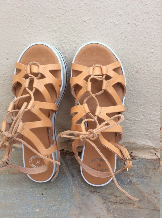 platforms Handmade bed summer up sandals up shoe Sandals Tie Sandals gift Sandals Greek shoes Gladiator soft Leather Sandals Lace Rgx0W1w