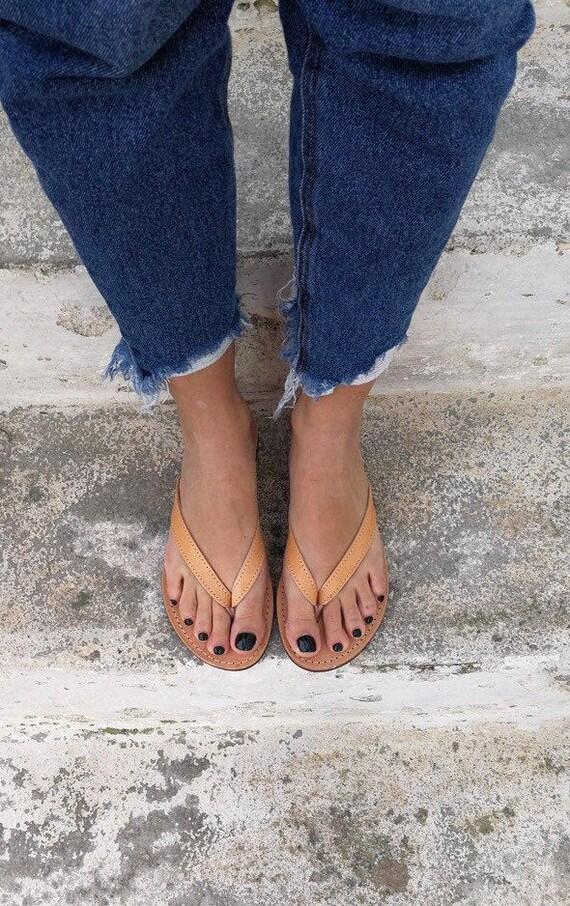 Griechische Sandalen, Slip auf Sommer Wohnungen