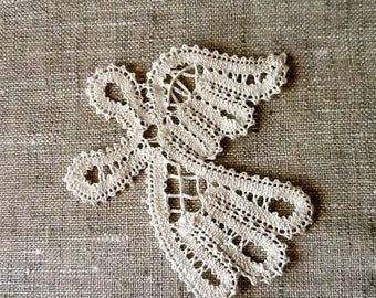 Vologda Lace Pin RARE Vintage collectible badge Russia Traditional Craft
