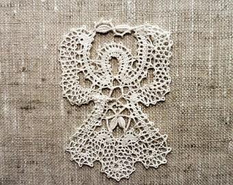 1df3690c7 Angel Bobbin Lace souvenir Russian Vologda Bobbin Lace Hand made  White/Ivory Linen
