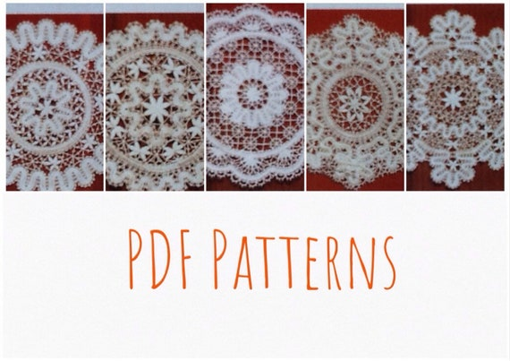 Patterns Bobbin Lace Napkins Digital Instant Download Russian Etsy