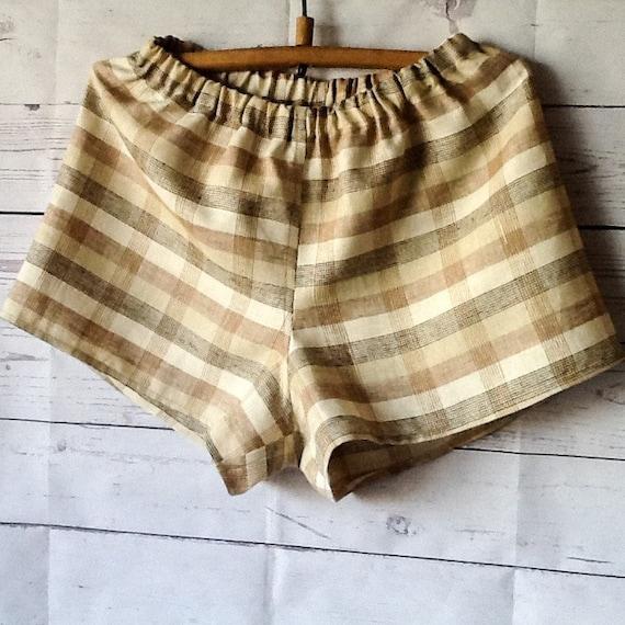 Mens linen shorts Organic underwear Pure linen sleepwear Boxer  429a4bcce809