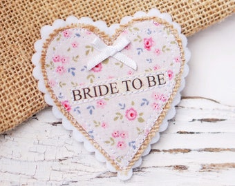 Floral Hen Party Badge perfect for vintage loving bride to be