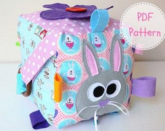 Sensory Block PDF  Educational Toy   Montessori Toy PDF   Sensory Toy   Quiet Book PDF   pdf sewing Pattern   Toy pdf  Baby Block Cloth Doll