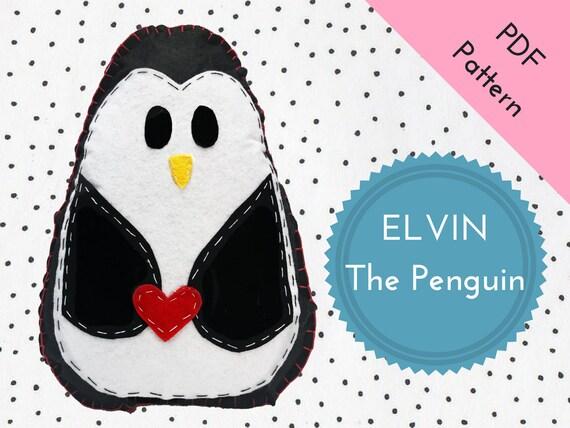 Filz PDF Pinguin Kuscheltier zum selbstnähen DIY Pinguin | Etsy