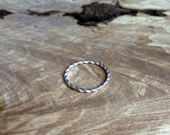 Twisted Ring Silver