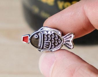 Sushi Pin - Soy Sauce Fish Enamel Pin - Cute Sushi Themed Gift