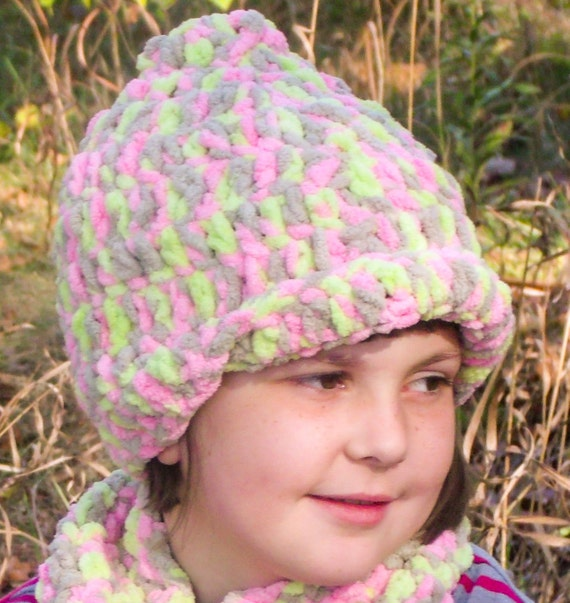 Childs  Crochet Hat made with Bernat Baby Blanket Yarn  ff8430cdcf0