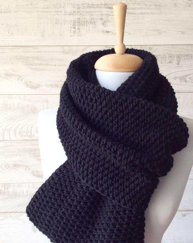 Gut gemocht Übergroße Schal Herren Grobstrick Schal stricken Mann Schal | Etsy ZX99