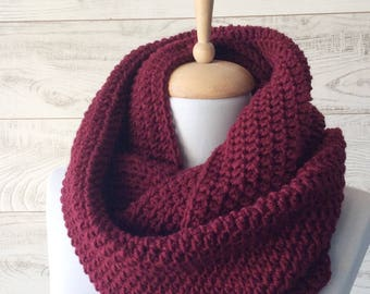 Wool knit infinity scarf scarf chunky knit scarf circle winter scarf womens scarf / FAST DELIVERY